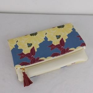 Rachel Pally🌺 Leather Fold Over Floral Clutch